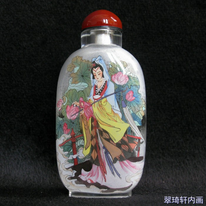 Chinese Inside Painting Belle Pattern Snuff Bottle