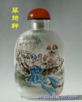 Inside Painting Animals Pattern Snuff Bottles—dogs