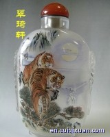 Inside Painting Animals Pattern Snuff Bottles--Tigers