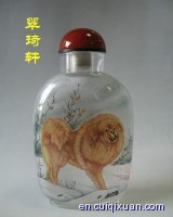 Inside Painting Animals Pattern Snuff Bottles—Tibetan mastiffs